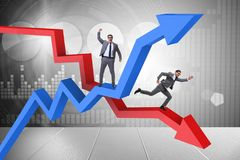 The businessman with charts of growth and decline. Businessman with charts of growth and decline Stock Photos