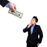 Businessman chase people with money Royalty Free Stock Images