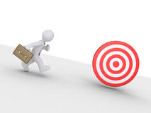 Businessman is chasing target Royalty Free Stock Photography