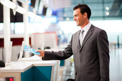 Businessman check in Stock Photo