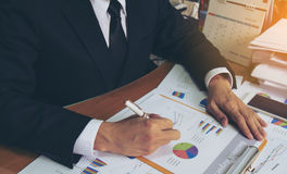 Businessman check business report. Royalty Free Stock Image