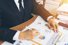 Businessman check business report. Stock Photography