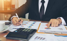 Businessman check business report. Stock Image