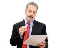 Businessman check document Stock Images