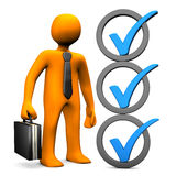 Businessman Checklist Stock Photography