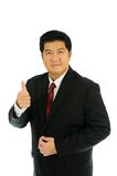Businessman cheer. Businessman in cheer position with Half-length Portrait Stock Image