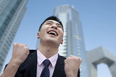 Businessman Cheering Stock Images