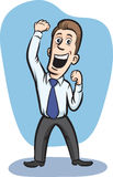 Businessman cheering. Vector illustration of Businessman cheering. Easy-edit layered vector EPS10 file scalable to any size without quality loss Stock Photography