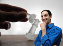 Businessman and chess-5 royalty free stock photo