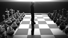 Businessman with chess board. Brainstorming concept 3d rendering. Bearded businessman with chess board. Brainstorming concept Stock Photos