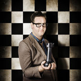 Businessman in chess strategy leadership challenge Stock Images