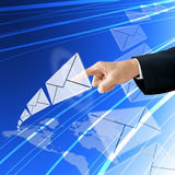 Businessman choose email Stock Photo