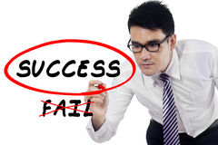 Businessman choose to success Royalty Free Stock Images