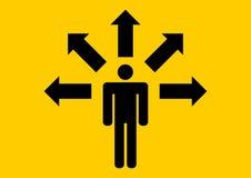 Businessman choosing direction Stock Photography