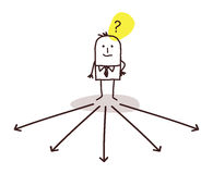 Businessman choosing direction. Illustration Royalty Free Stock Image