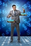 The businessman choosing between good and bad royalty free stock photos