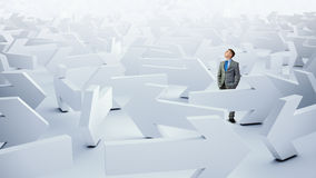 Businessman choosing his business direction Stock Photos