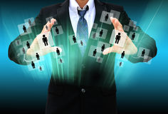 Businessman Choosing the person Stock Image