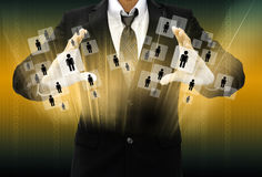 Businessman Choosing the right person Royalty Free Stock Photography