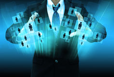 Businessman Choosing the right person Stock Images