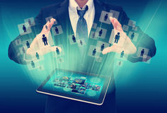 Businessman Choosing the right person Royalty Free Stock Photo