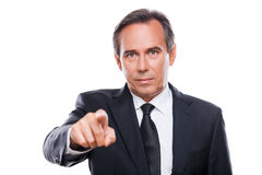 Businessman choosing you. Stock Photography