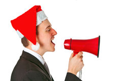 Businessman with chrismas hat Royalty Free Stock Photography