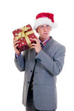 Businessman Christmas Stock Photography