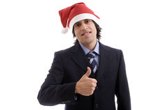 Businessman with Christmas hat Royalty Free Stock Photo