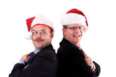 Businessman in christmas spirit stock image