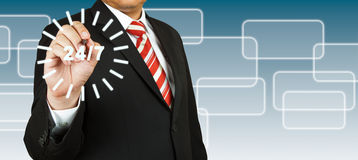 Businessman with 24/7 circle Royalty Free Stock Photo