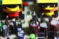 Businessman circuit board B Stock Images