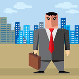 Businessman in city Royalty Free Stock Image