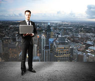 Businessman and city Royalty Free Stock Photography