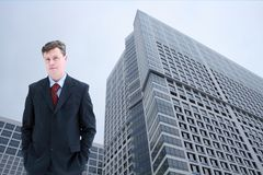 Businessman in city Royalty Free Stock Images