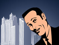 Businessman in a city Stock Image
