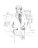 Businessman in the city Royalty Free Stock Photography