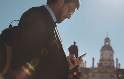 Businessman in the city Royalty Free Stock Image