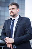 Businessman in the city Stock Images