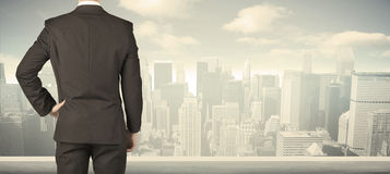 Businessman with city view Royalty Free Stock Image