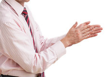 Businessman clapping Stock Photos