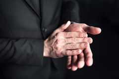 Businessman clapping hands Stock Photos
