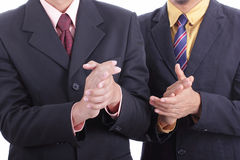 Businessman clapping hands for welcome and congratulation for appreciation Royalty Free Stock Photo