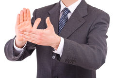 Businessman clapping his hands. Royalty Free Stock Image