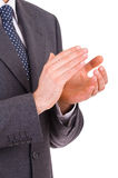 Businessman clapping his hands. Stock Images