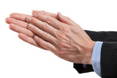 Businessman clapping his hands Stock Photos
