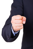 Businessman with clenched fist. Stock Image