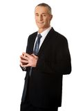 Businessman with clenched hands Royalty Free Stock Photography