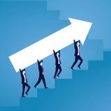 Businessman climb success ladder Stock Photos