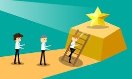 Businessman climb to star. Stock Photography